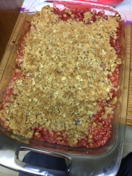 Strawberry/Rhubarb Crisp